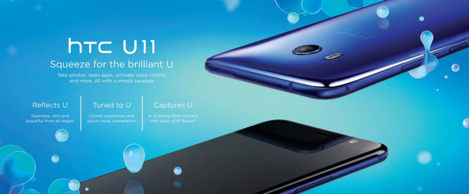 All You Need to Know About HTC U11 Squeezable Smartphone