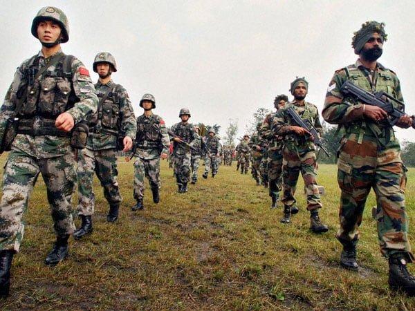 indina china army
