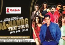 Salman Khan in Delhi (10 Dec) at JLN Stadium on Da-bangg Tour with Sonakshi Sinha and Prabhu Deva