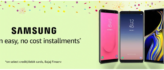 Grab No Cost Installments on Samsung Smartphones only on Amazon